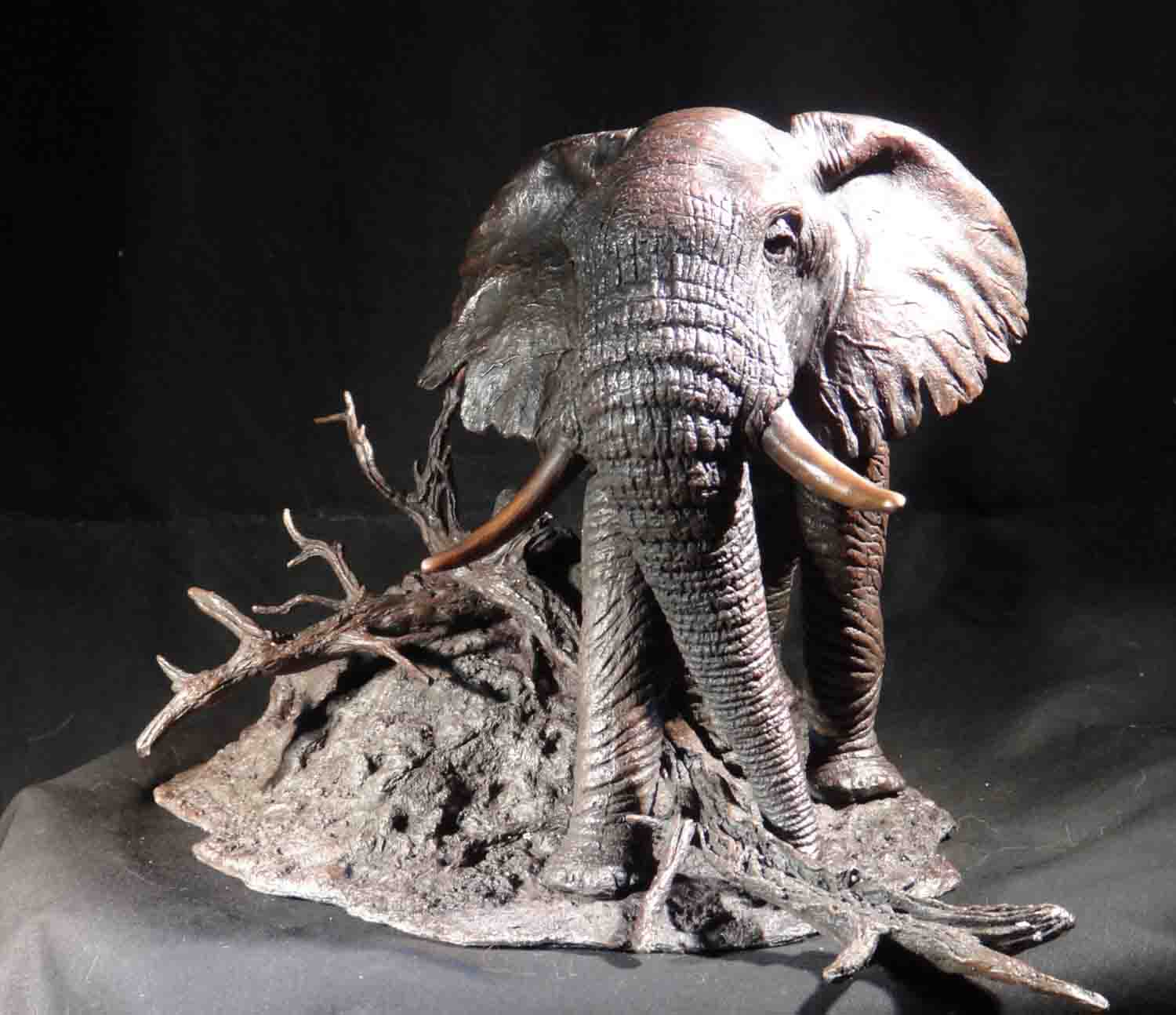 david shepherd  bronze elephant sculpture 1