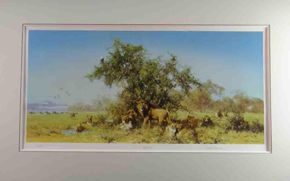 david shepherd  Africa, silkscreen, print, mounted