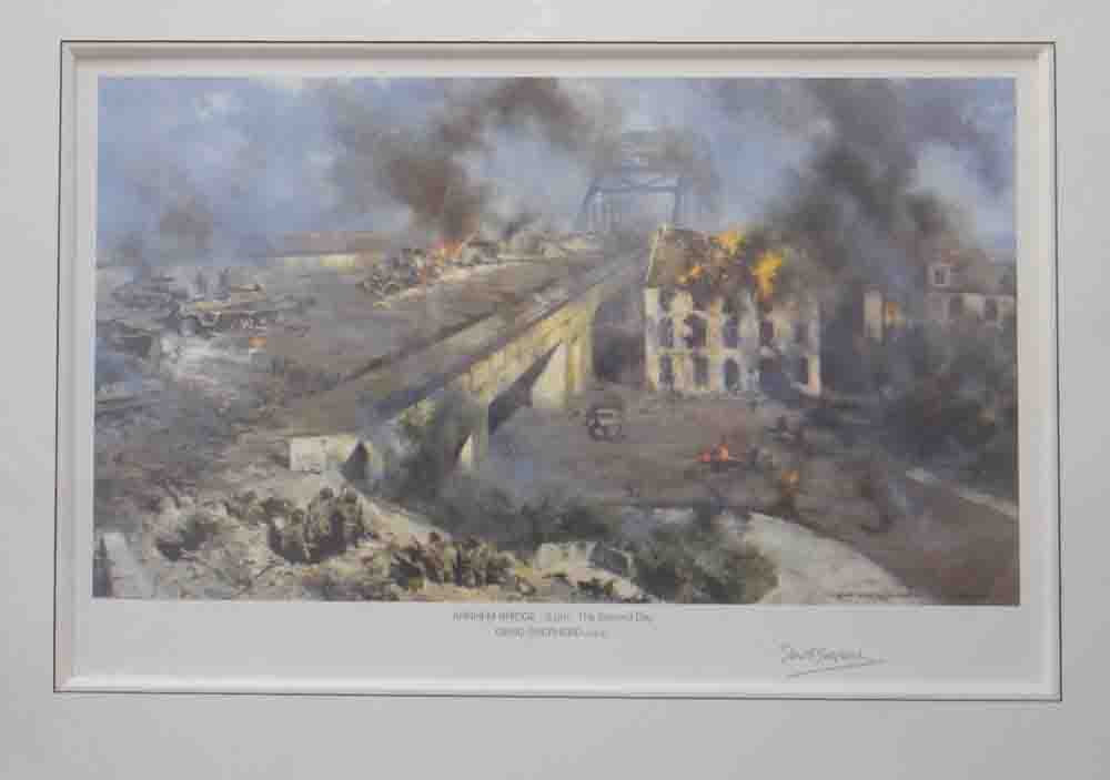 arnhem bridge print mounted