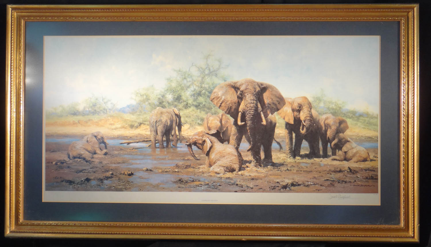 david shepherd signed limited edition print elephant heaven