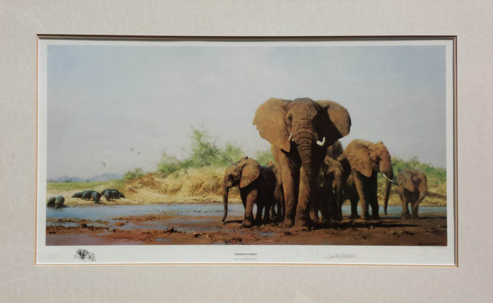david shepherd evening in Africa print