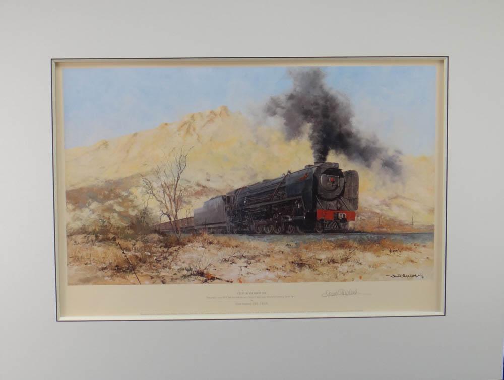 Johannesburg, South Africa, train, print