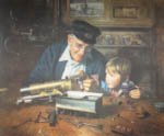 grandpa's workshop David Shepherd portrait print