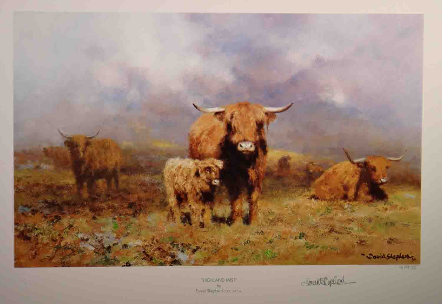 david shepherd, Highland mist, print