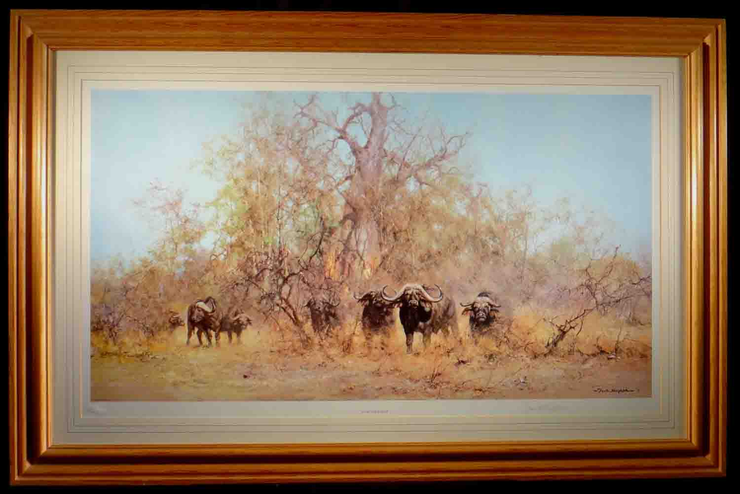 david shepherd, in the thick stuff, signed limited edition print