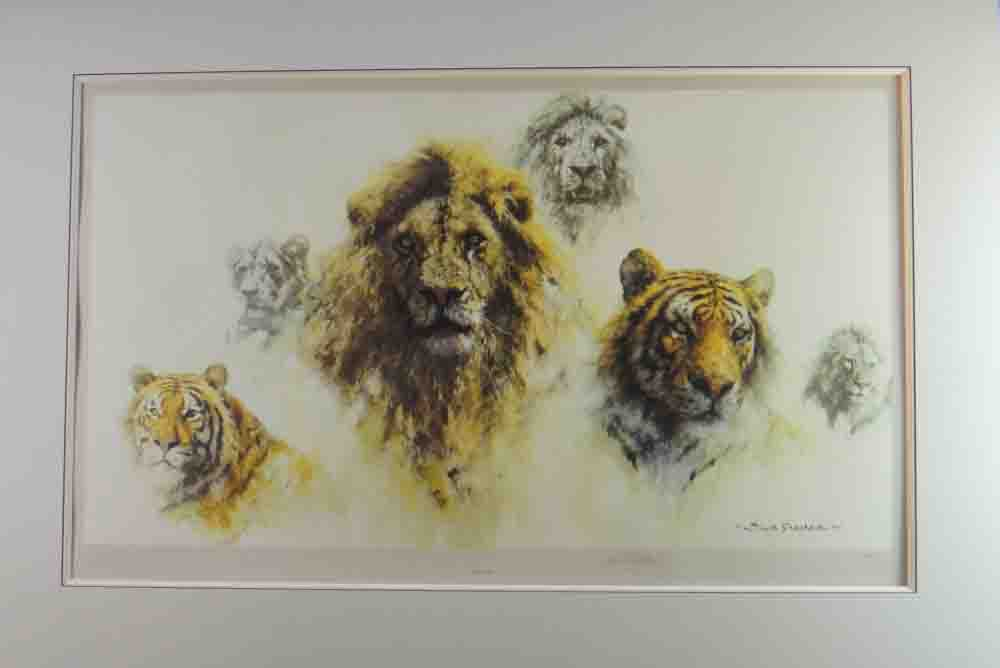 david shepherd Just Cats, mounted