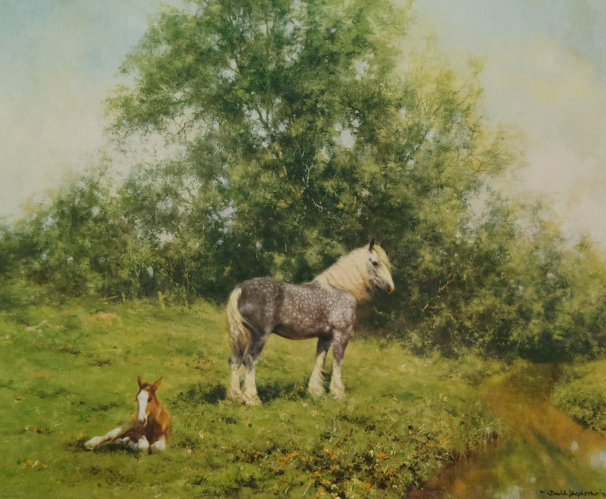 david shepherd lazy hazy days horses