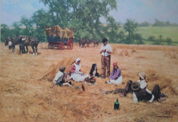 david shepherd  lunch break signed print