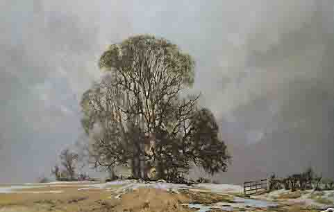 david shepherd print melting snow