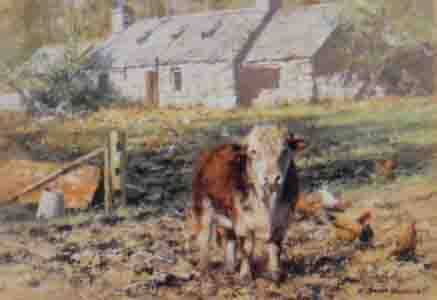 david shepherd, old ben's cottage, print