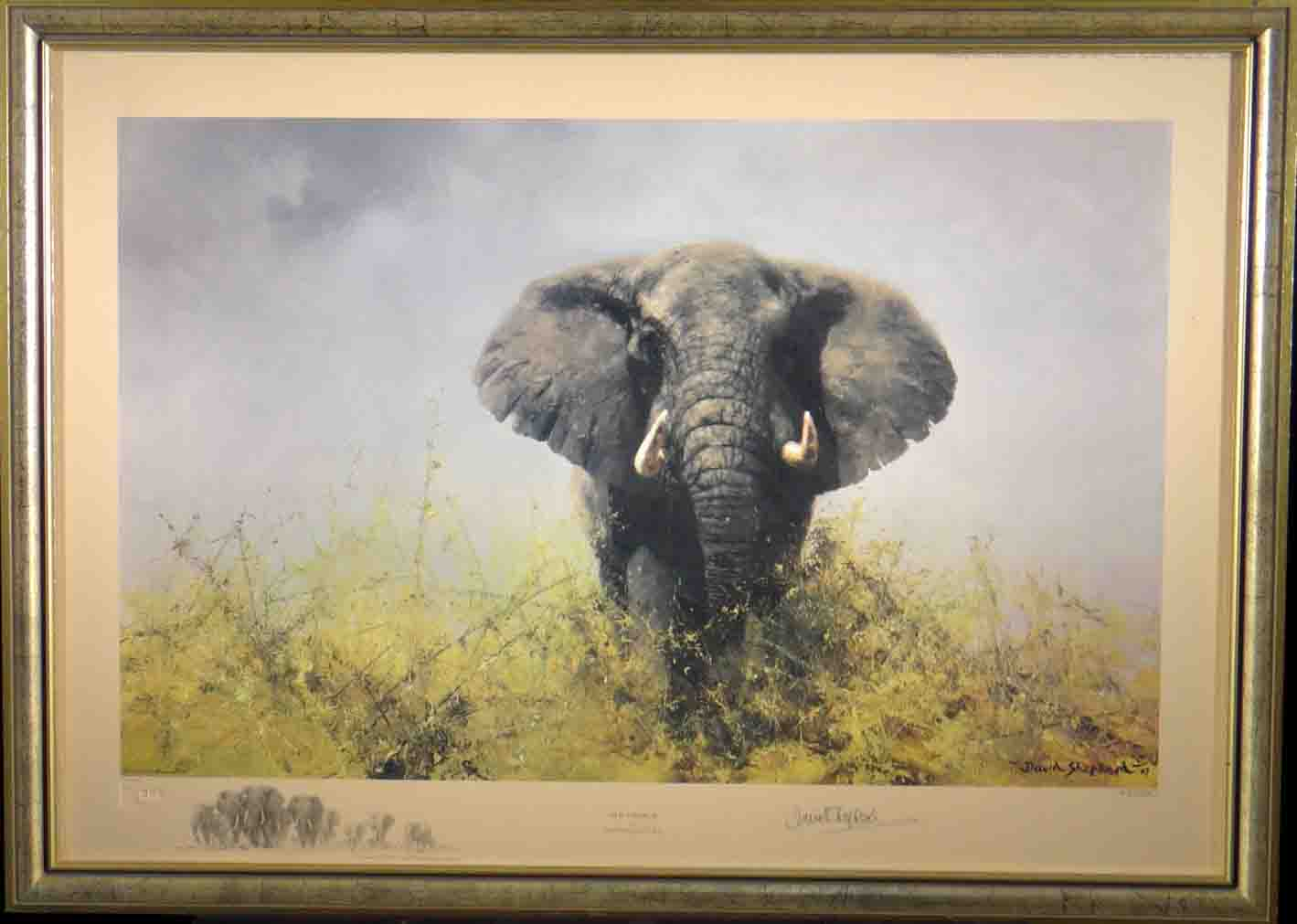 david shepherd, old charlie, signed limited edition print