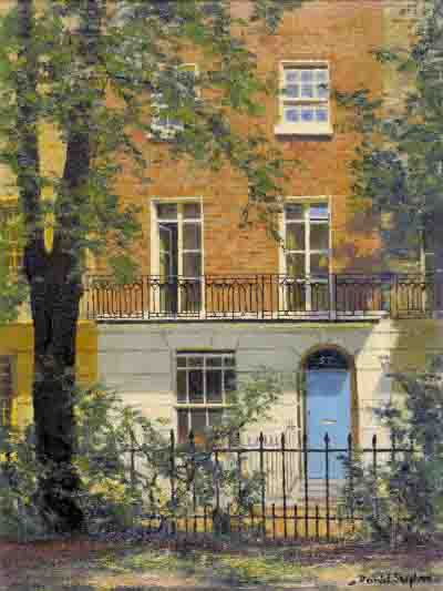 david shepherd brompton square, london, painting