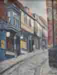old street, david shepherd, original, Oil Painting on canvas