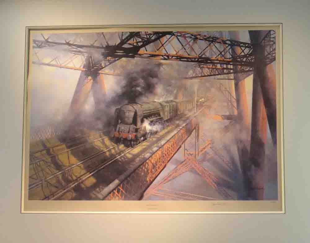 over the Forth, framed steam, trains david shepherd mounted