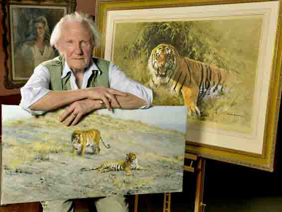 david shepherd, studio, tiger fire, photo