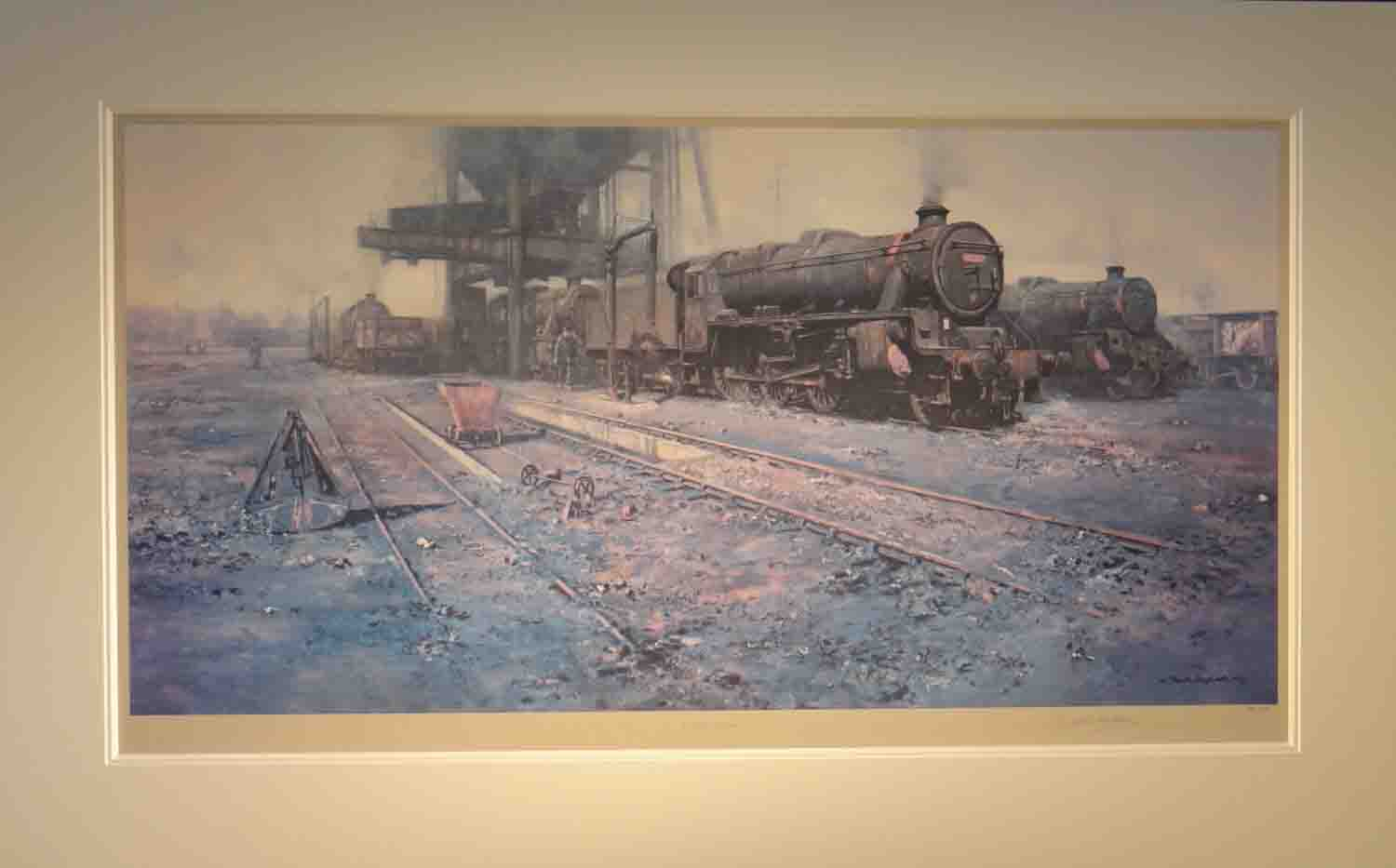 david shepherd, signed limited edition print, Black Five Country, Trains