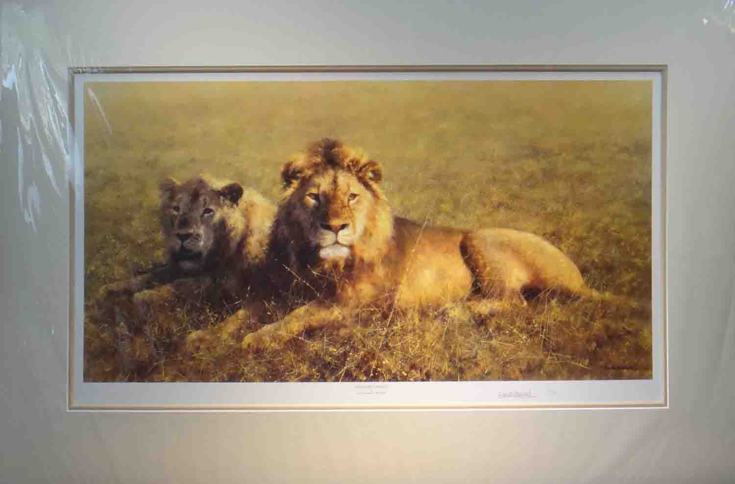 david shepherd Serengeti friends mounted