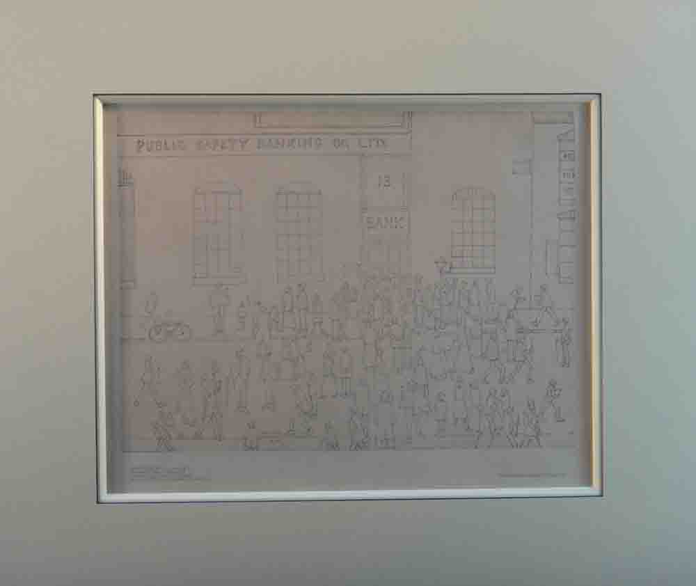 lowry bank failure print mounted