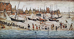 ls lowry the beach, signed limited edition print