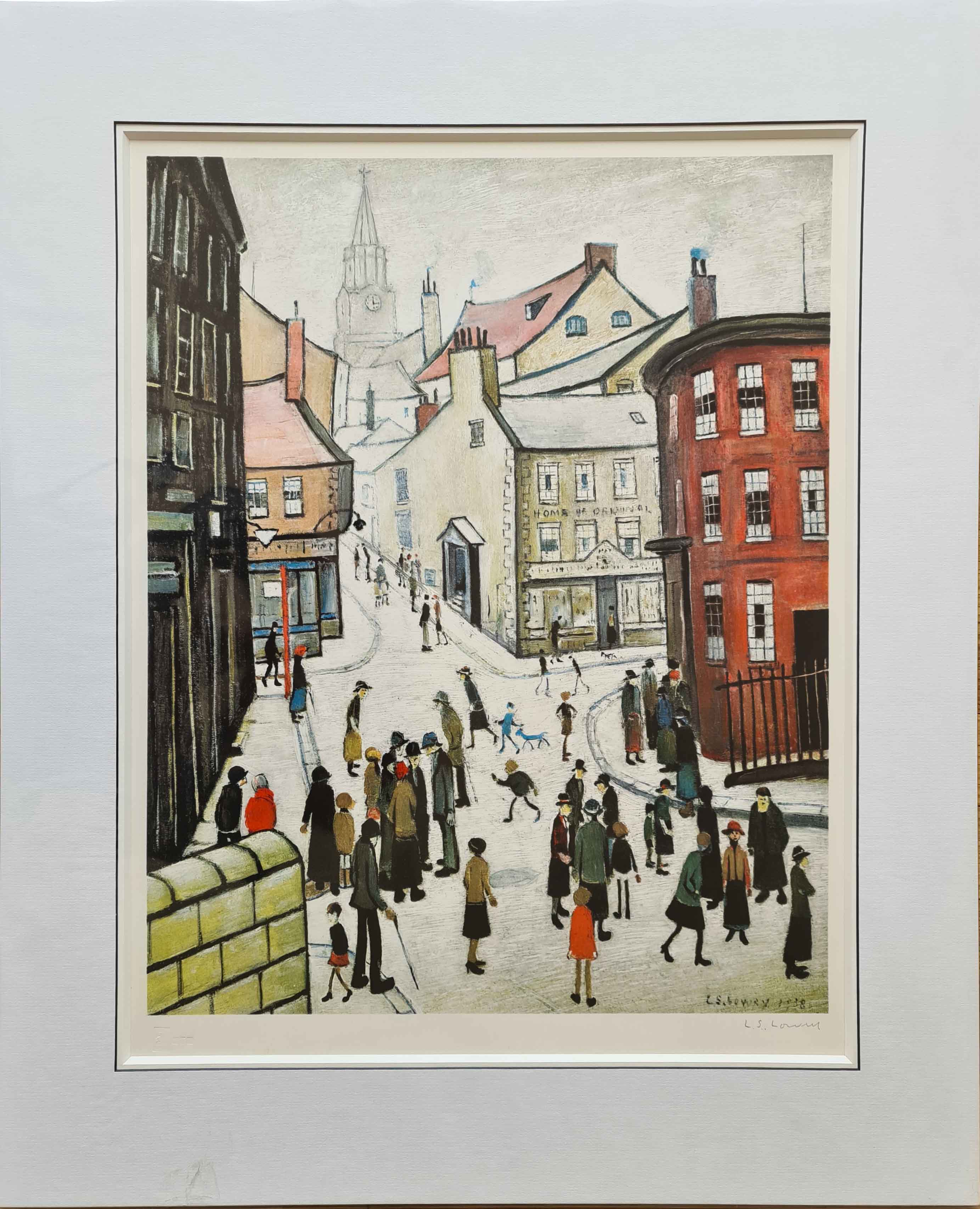 lowry Berwick on Tweed, signed print lslowry