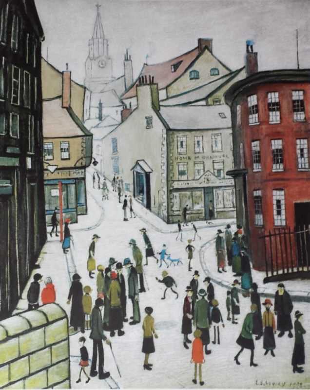 lowry berwick-on-tweed signed print