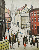 lowry, signed print, berwick on tweed print