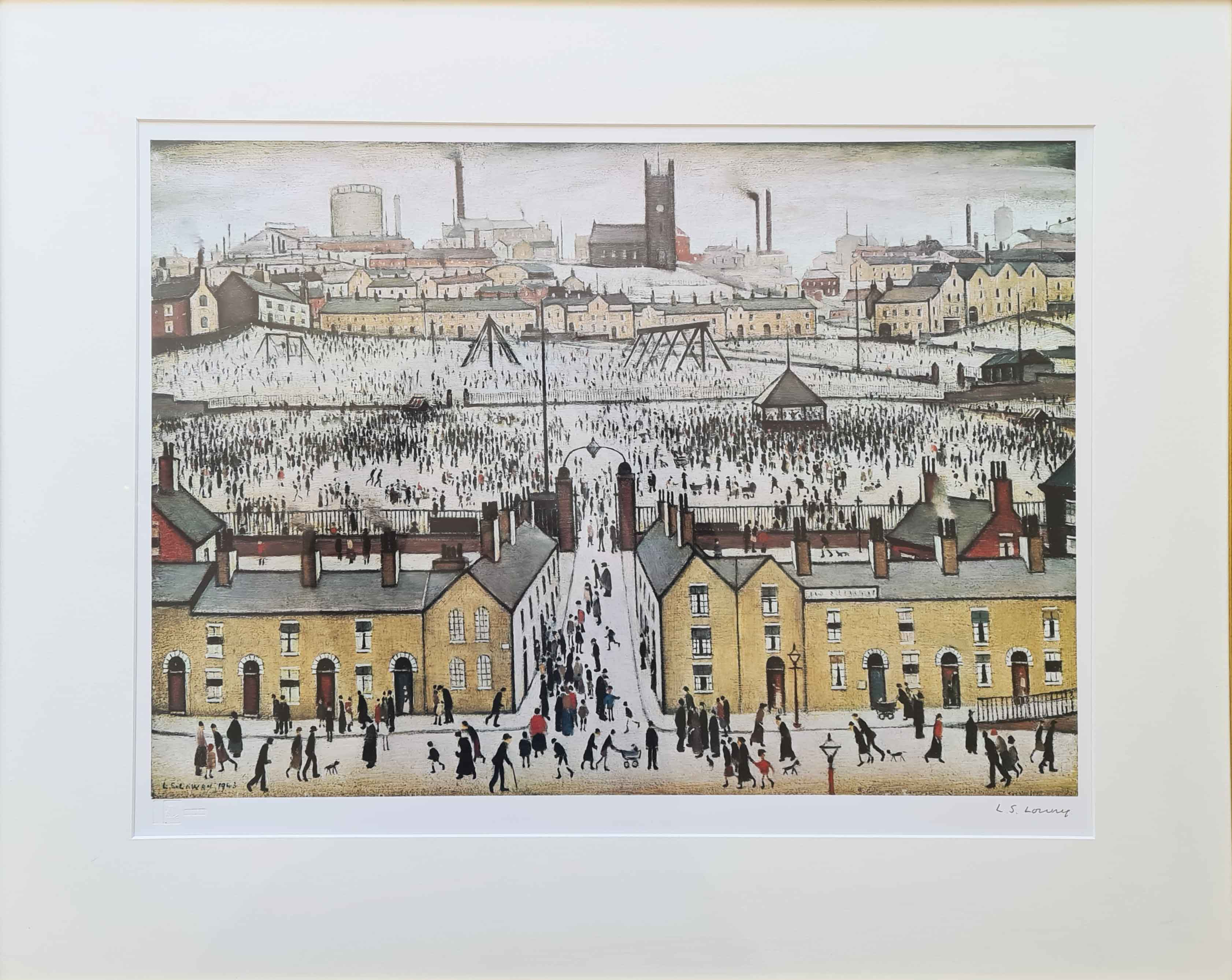 lowry, signed print, britain at play, lslowry