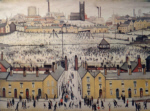 lowry signed print, britain at play