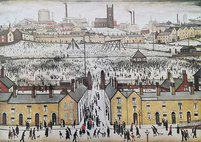 Lowry original signed limited edition prints, Britain at play