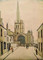 lowry signed prints, Burford church