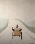 lowry, signed print, the cart