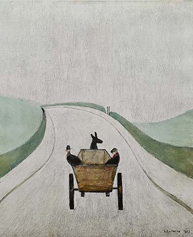 Lowry original signed limited edition lithograph prints, cart