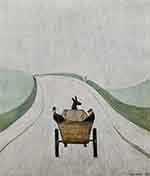 lowry signed prints, the cart print