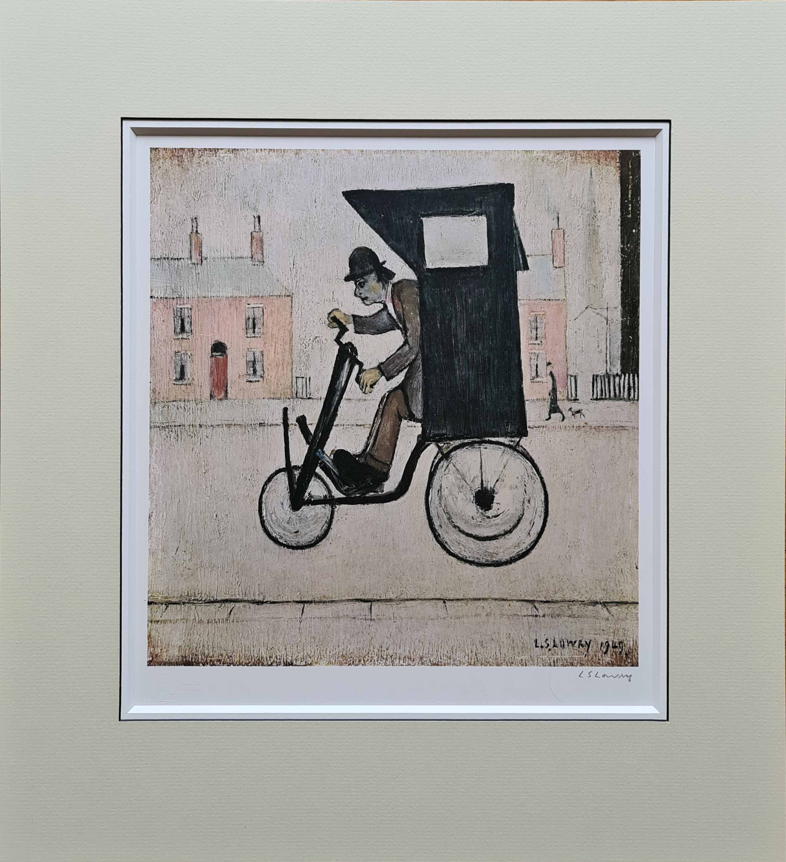 lowry contraption signed print mounted