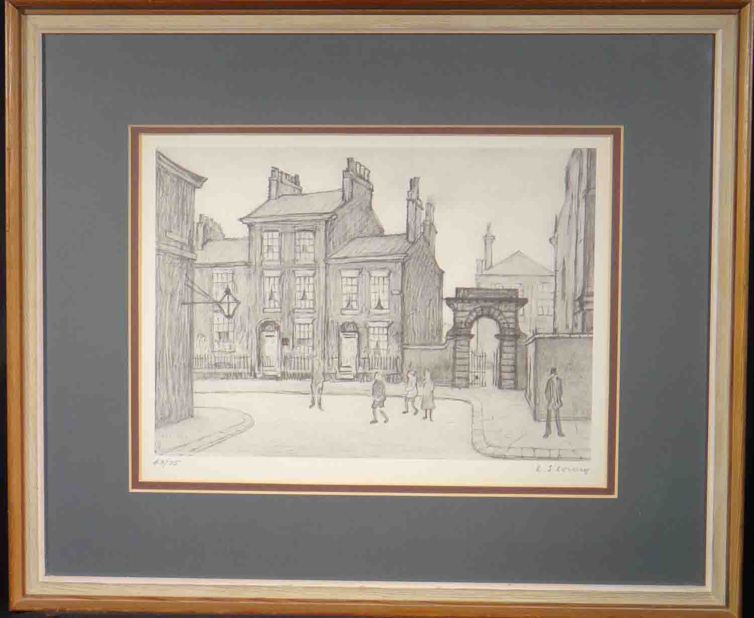 lowry, County court, Salford, signed print lslowry
