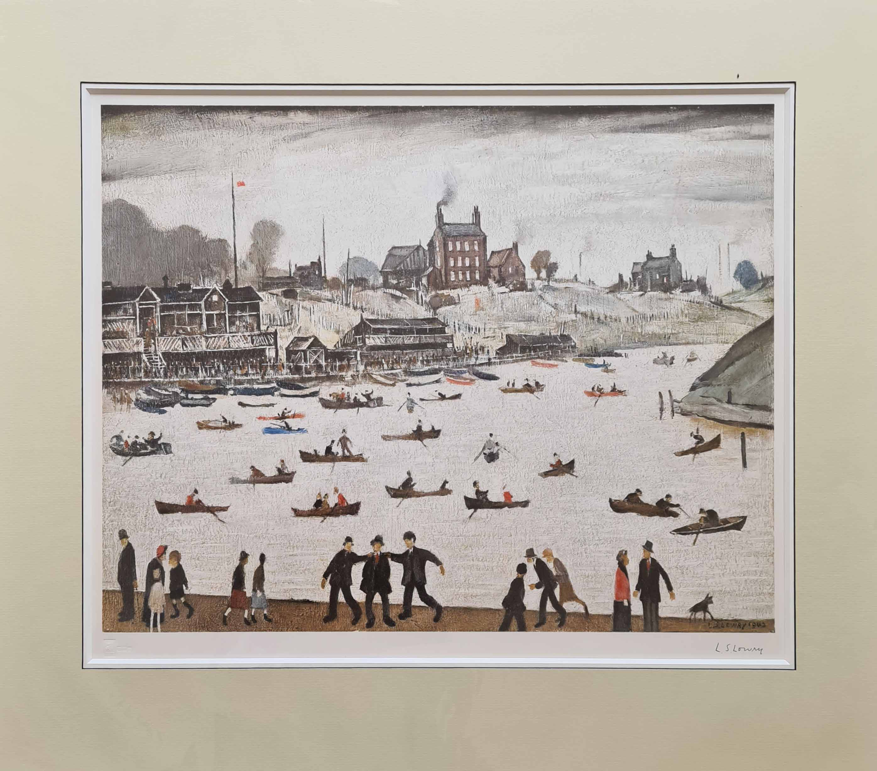 lowry, signed print, crime lake,