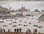 lowry, signed, prints, crime lake