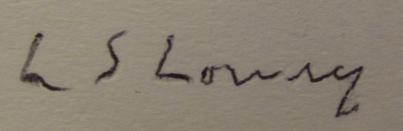 lowry overwritten signed print