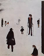 ls lowry figures in the park, signed, limited edition,print