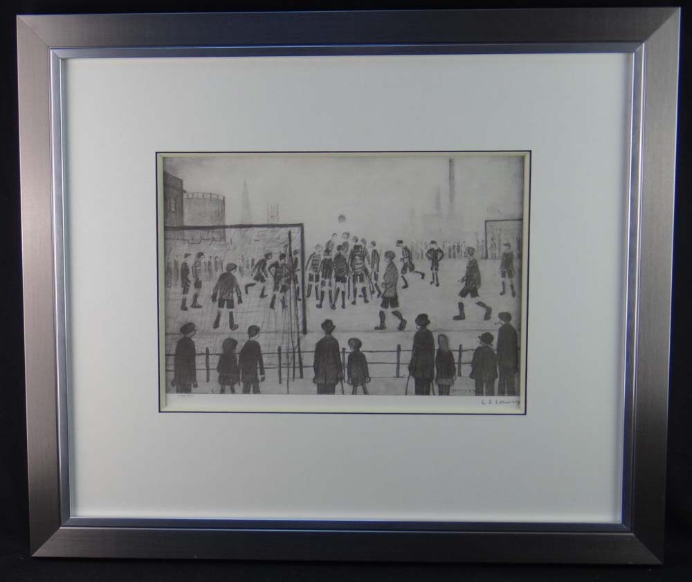 lowry football match print framed