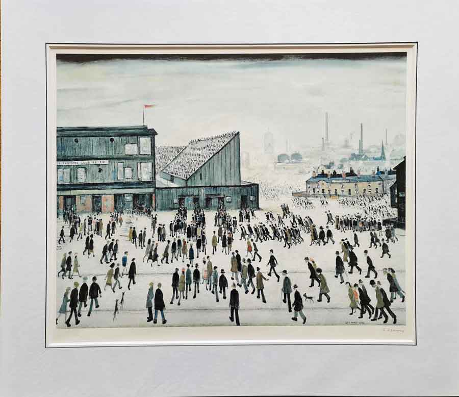 lowry, Going to the Match, blackburn rovers, signed print lslowry