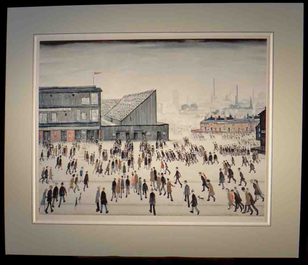 lowry, going to the match,3, signed print lslowry