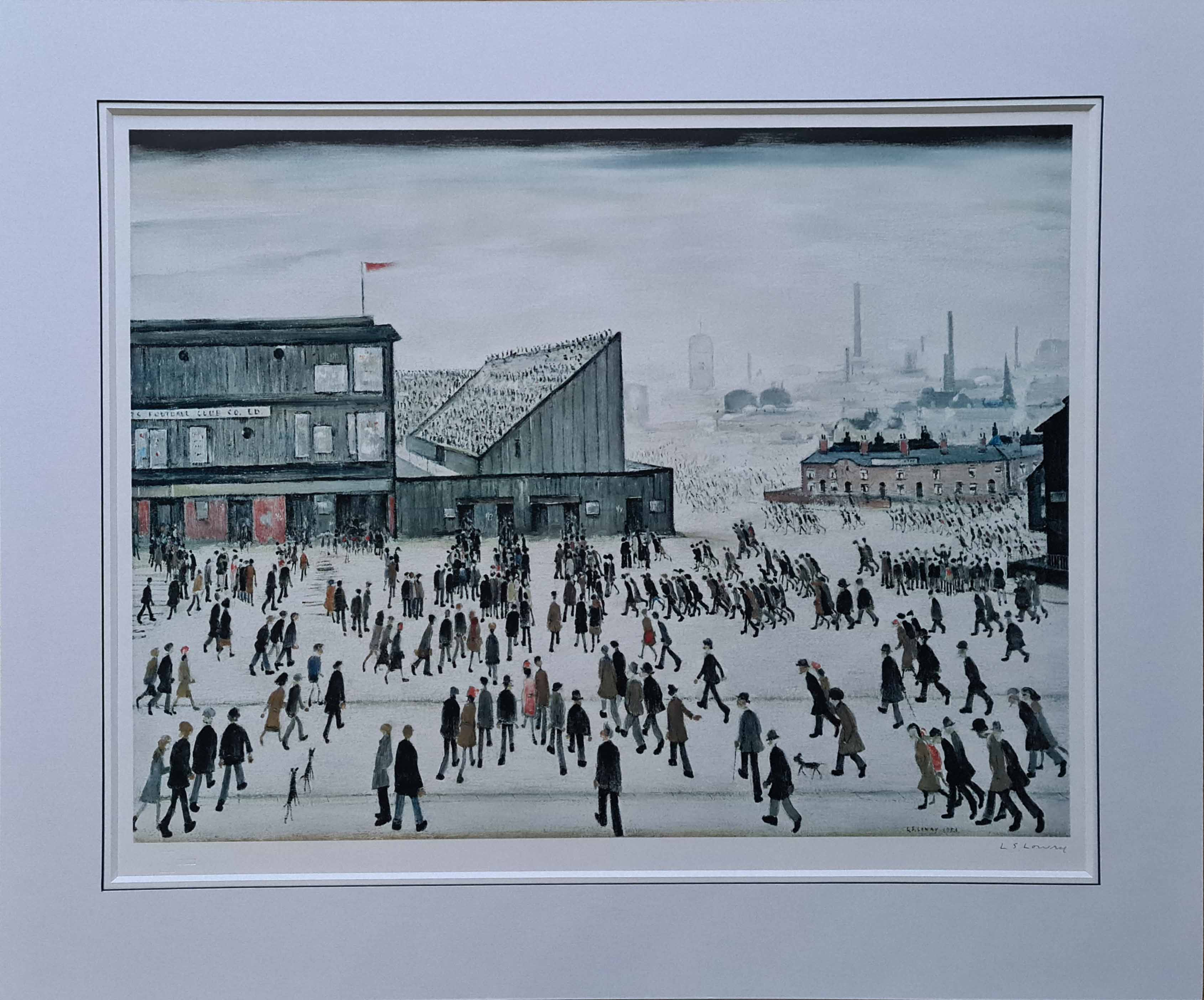 lowry, going to the match,6, signed print lslowry