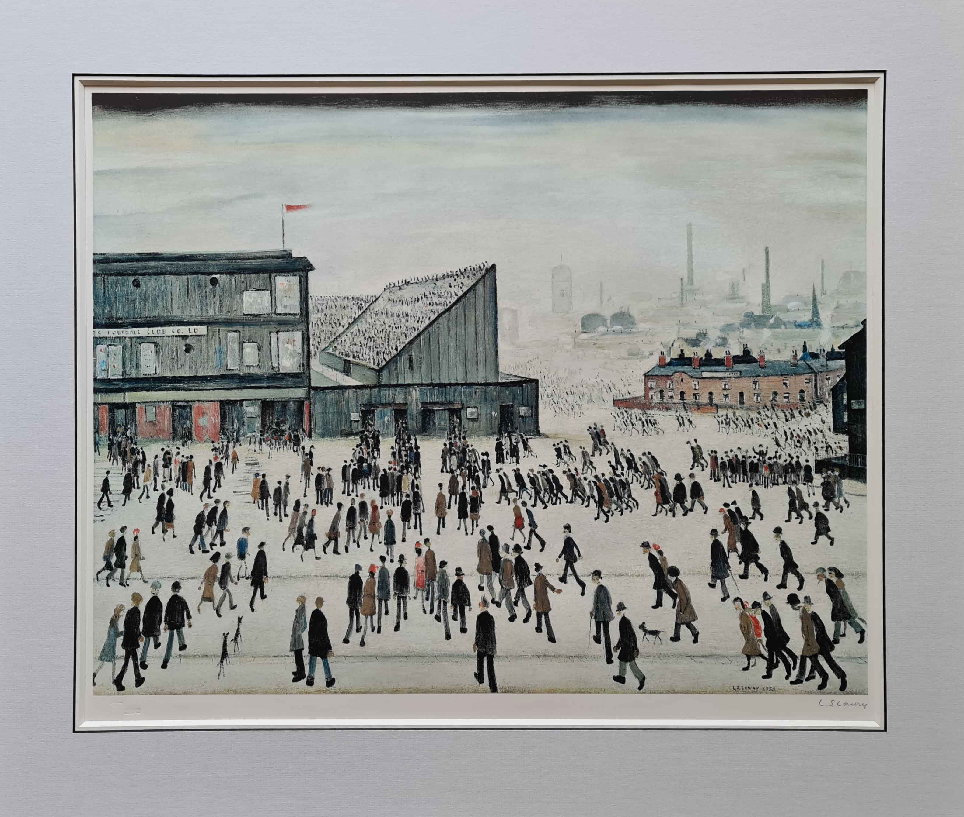 lowry, going to the match,9, signed print lslowry