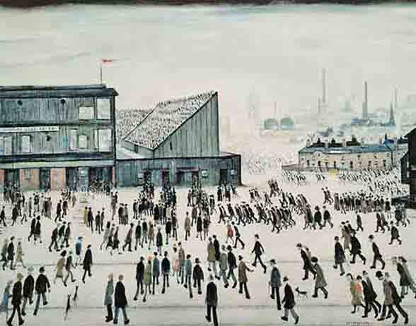 Lowry original signed limited edition prints, Going to the Match