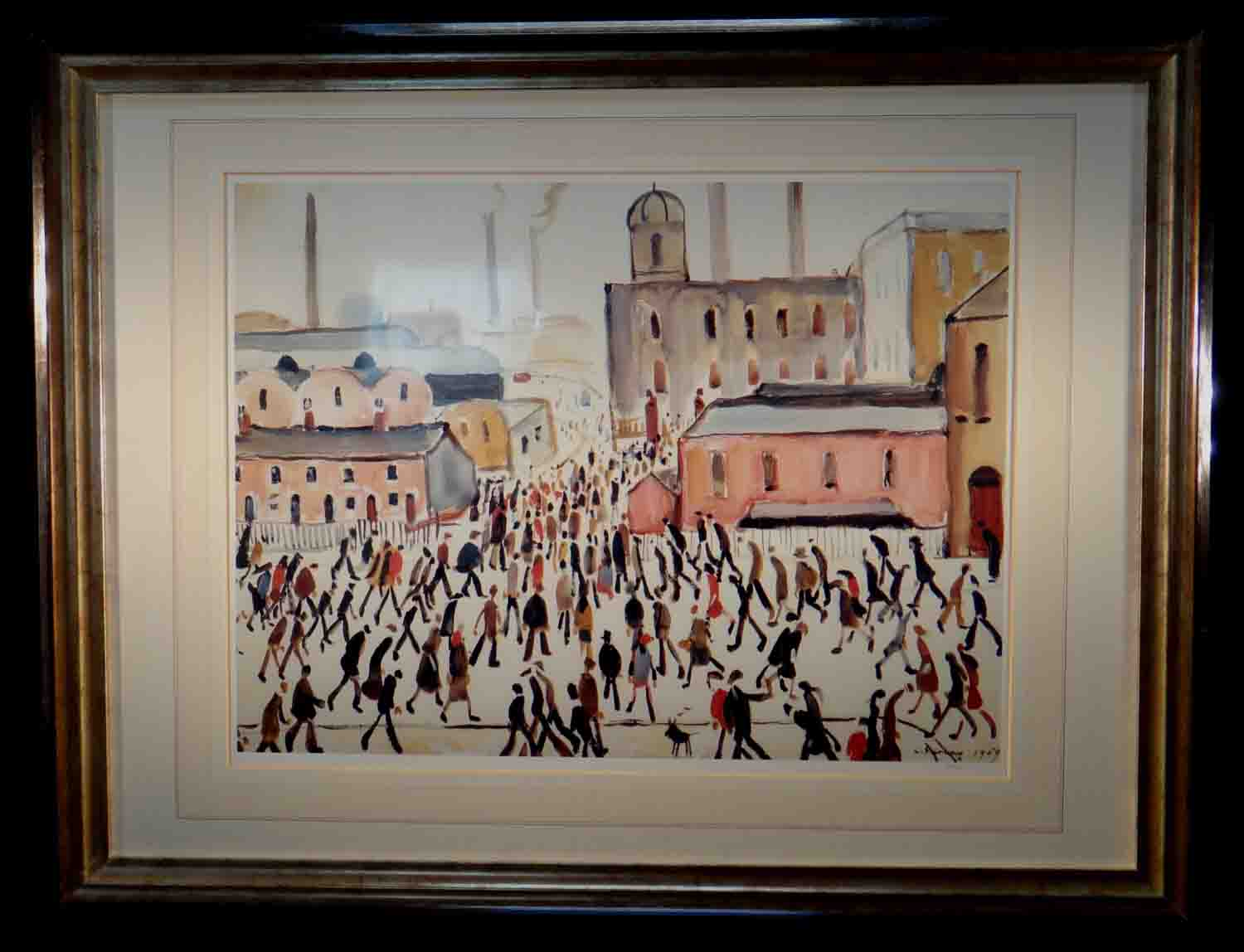 lowry, going to work, limited edition print