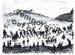 Hillside, Lowry original signed limited edition lithograph
