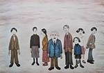 lowry prints, his family