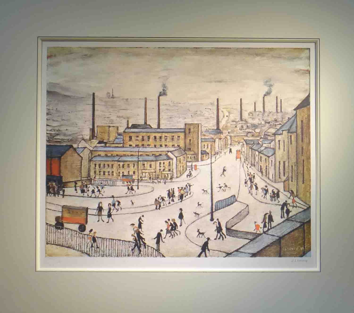lowry huddersfield print signed print mounted