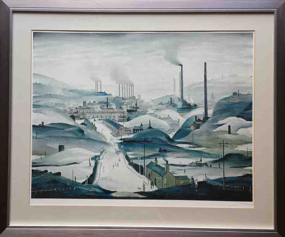Lowry industrial panorama print framed